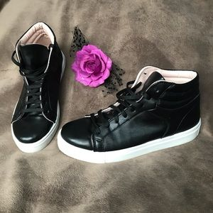 Topshop black high top sneakers, size 8